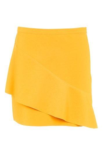 Topshop Petite Wave Front Mini Skirt