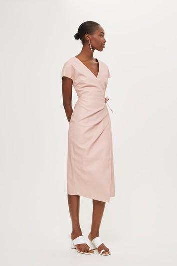 Topshop Midi Length Wrap Dress
