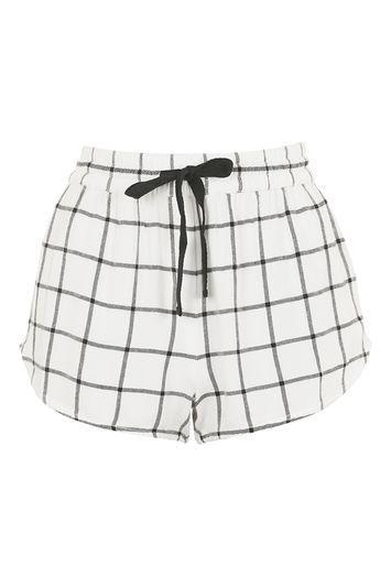 Topshop Check Pyjama Short