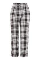 Topshop Tartan Peg Pants