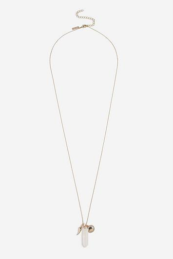 Topshop *aromatherapy Crystal Pendant Necklace