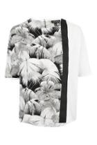 Topshop Oversized Mix Palm Print Tee