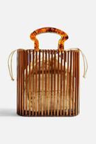 Topshop Flint Wooden Tote Bag