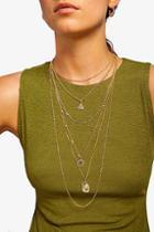 Topshop *egyptian Multirow Necklace