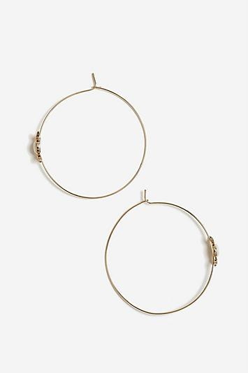 Topshop *shell Hoop Earrings