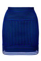 Topshop Airtex Stripe Panel Skirt
