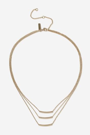 Topshop Multi-row Bar Necklace