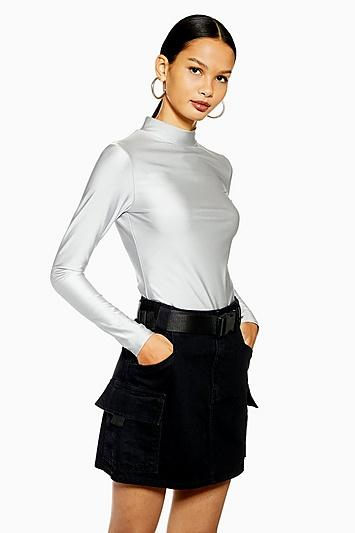 Topshop Disco High Neck Top By We Own The Night