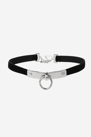 Topshop Bar Choker Necklace