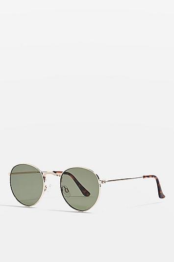 Topshop Metro Round Sunglasses