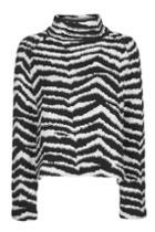 Topshop Textured Zebra Funnel Jumper