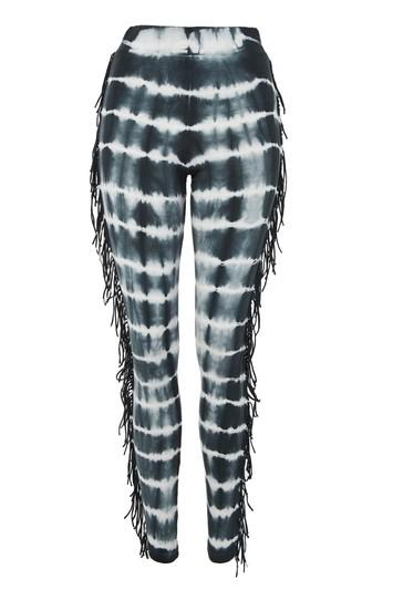 Topshop Tie Dye Fringed Leggings
