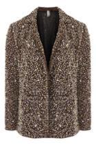 Topshop Heavy Sequin Blazer