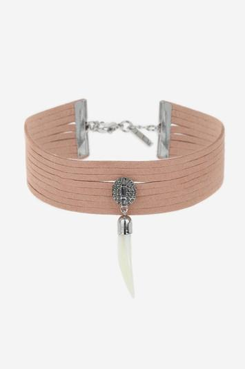 Topshop Suede Tusk Choker Necklace
