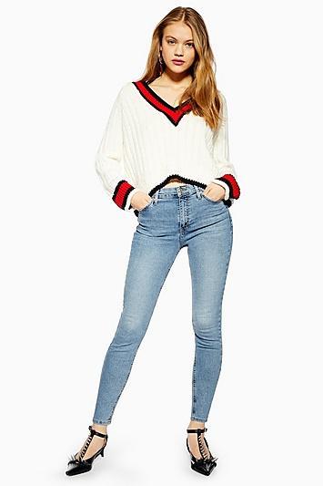 Topshop Petite Bleached Jamie Jeans