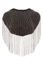 Topshop Hooded Beaded Cape