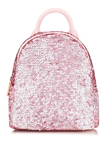 Topshop *sequin Mini Backpack By Skinnydip