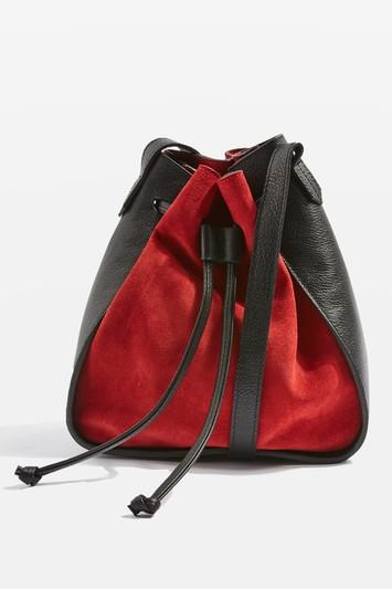 Topshop Zena Suede Mini Bucket Bag