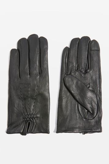 Topshop Stitched Leather Gloves