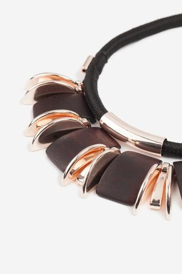 Topshop Curved Wood Collar Necklace
