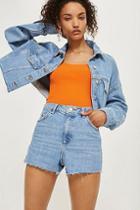 Topshop Tall Premium Mom Shorts