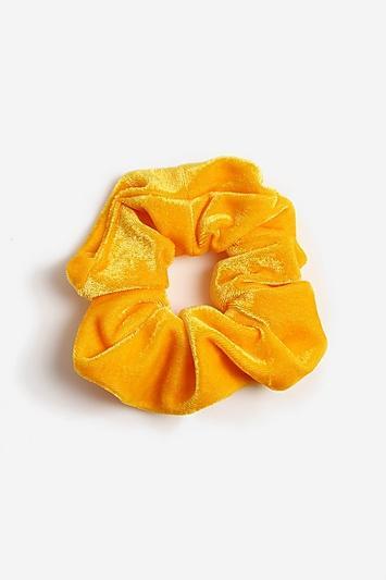 Topshop *yellow Velvet Hair Scrunchie