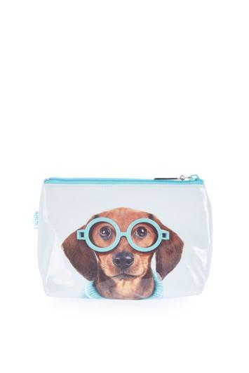 Topshop Glasses Dog Small Make-up Bag