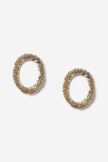 Topshop Bobble Front Textured Hoop Earrings