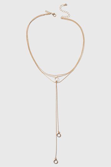 Topshop Loop Multirow Necklace