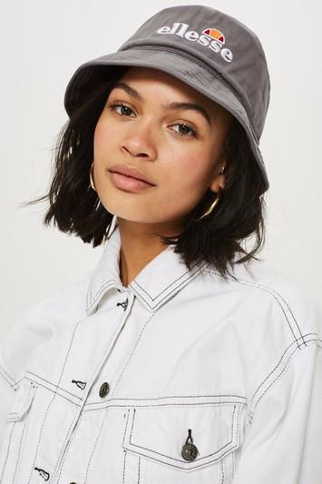 Topshop Grey Bucket Hat By Ellesse