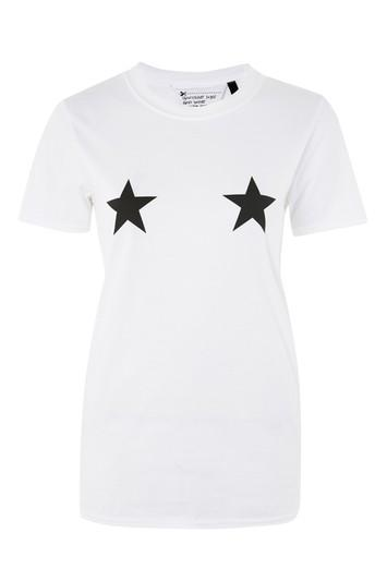 Topshop Star Placement T-shirt By Tee & Cake