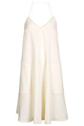Topshop **cream Crepe Strappy Dress By Unique