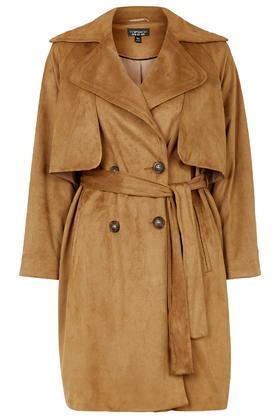 Topshop '70s Belted Suedette Duster Coat