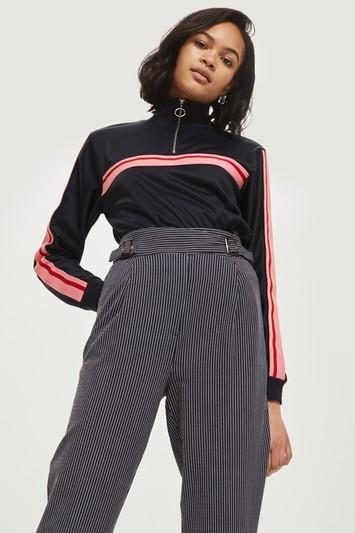 Topshop Stripe Tapered Pants