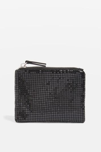 Topshop Chainmail Ziptop Purse
