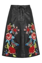 Topshop Rose Embroidered Midi Skirt