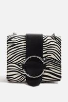 Topshop *zebra Ruby Cross Body Bag By Skinnydip