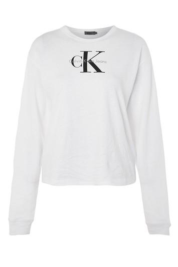 Topshop Long Sleeve T-shirt By Calvin Klein