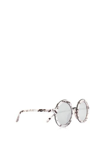 Topshop *lou Lou Marble Round Sunglasses By Skinnydip