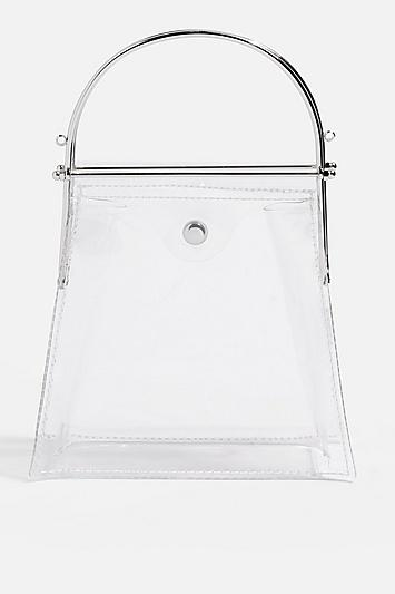Topshop Lola Clear Frame Grab Bag