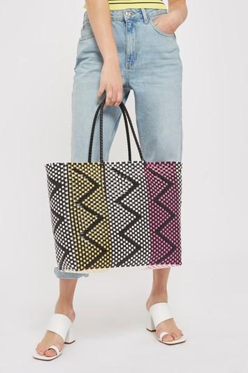 Topshop Peter Woven Shopper Bag