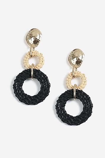 Topshop Wicker Link Drop Earrings