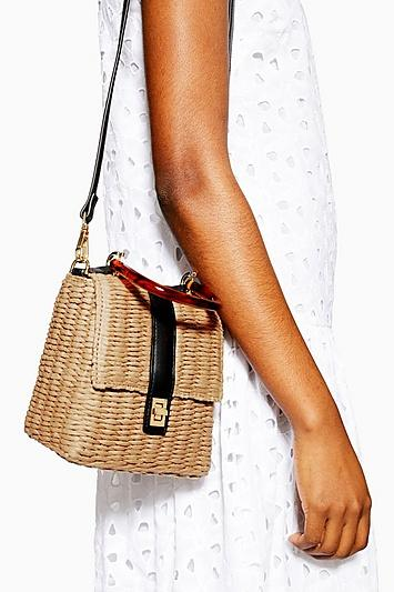 Topshop Skyla Straw Grab Bag