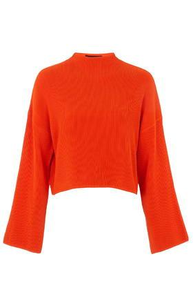 Topshop Compact Stitch Funnel Sweater