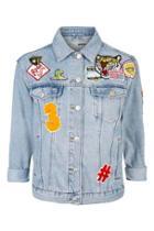 Topshop Petite Denim Badge Jacket