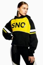 Topshop *yellow Hoodie By Topshop Sno