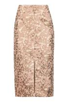 Topshop Camouflage Jacquard Pencil Skirt