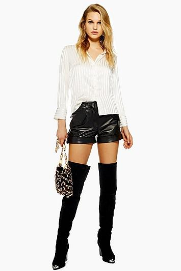 Topshop Leather Shorts