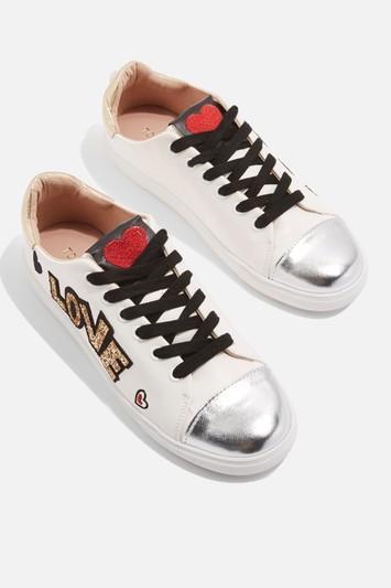 Topshop Cutie Slogan Sneakers