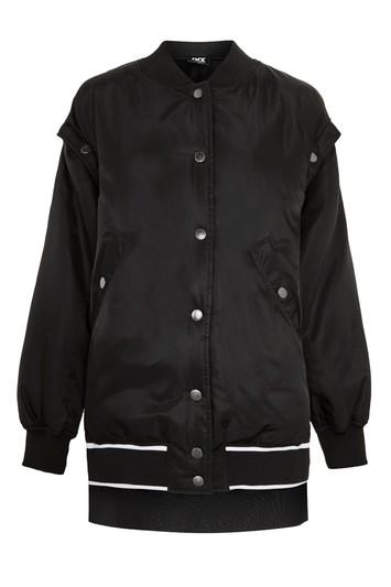 Topshop Varsity Bomber Jacket By Ivy Park
